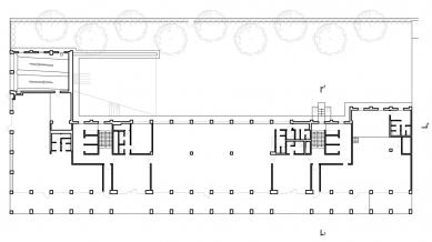 Administrativní budova Rohan – River Garden - Půdorys 1NP