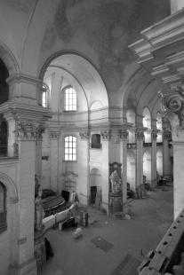 Rekonstrukce kostela Nalezení svatého Kříže vLitomyšli - Původní stav - foto: Archiv autorů