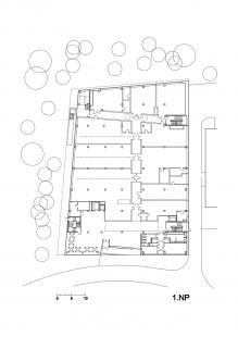 Budova L TUL - Půdorys 1.np