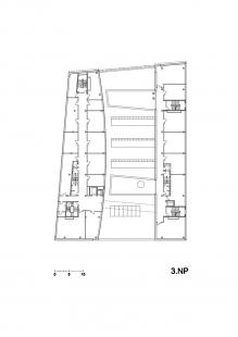 Budova L TUL - Půdorys 3.np