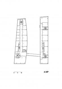 Budova L TUL - Půdorys 4.np