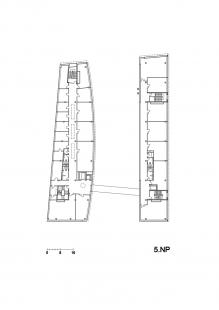 Budova L TUL - Půdorys 5.np