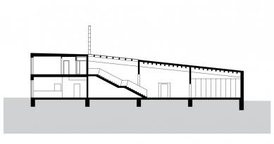 Ekologické centrum Rychleby - Řez A - foto: knesl+kynčl architekti