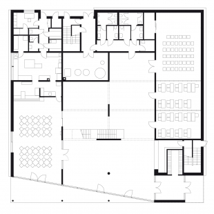 Ekologické centrum Rychleby - Budova B - půdorys 1NP - foto: knesl+kynčl architekti