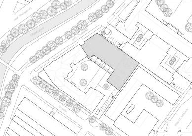 Dostavba budovy Slovanského gymnázia v Olomouci - Situace