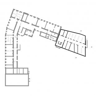 Dostavba budovy Slovanského gymnázia v Olomouci - 1. NP