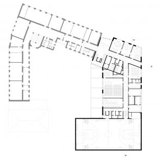 Dostavba budovy Slovanského gymnázia v Olomouci - 3. NP