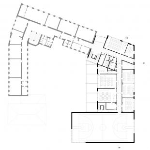 Dostavba budovy Slovanského gymnázia v Olomouci - 4. NP