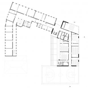 Dostavba budovy Slovanského gymnázia v Olomouci - 5. NP