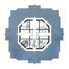 Jin Mao Building - Půdorys administrativního patra - foto: © S.O.M., 1998