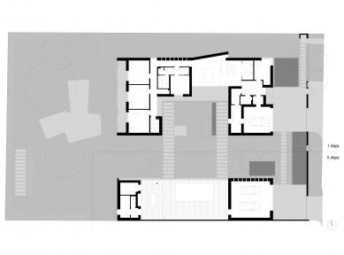 Rodinný dům v Olomouci-Slavoníně - Půdorys celkový