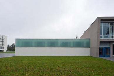 Přestavba Café am Bauhaus na knihovnu Bauhaus - foto: Petr Šmídek, 2014
