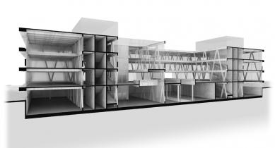 Centrum technologie a designu - 3D řez - foto: © AllesWirdGut Architektur