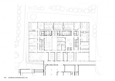 Centrum technologie a designu - Suterén - foto: © AllesWirdGut Architektur
