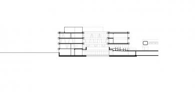 Centrum technologie a designu - Řez příčný - foto: © AllesWirdGut Architektur