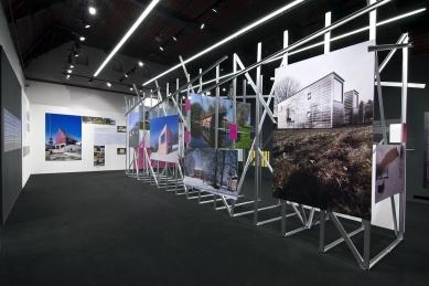 Instalace výstavy PUNK v české architektuře - foto: AI photography, Aulík Fišer architekti