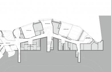 Konferenční centrum Favrholm - Půdorys suterénu - foto: SeARCH