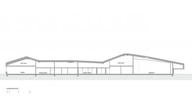 Konferenční centrum Favrholm - Podélný řez - foto: SeARCH