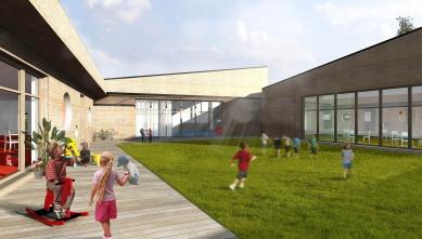 Rozšíření mateřské školky v Klecanech - Vizualizace - foto: Lukáš Brom