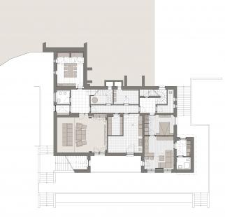 Obnova vily Münz - Půdorys 1PP