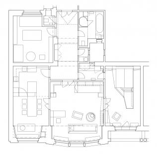 Interiér bytu - Půdorys