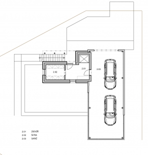 Rodinný dům ve svahu - 2NP