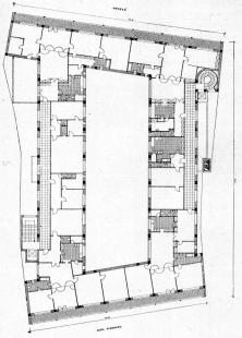 Moravská banka - Půdorys bytového patra - foto: archiv redakce