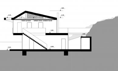Rodinný dům v Liboci - Řez