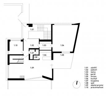 Rodinný dům Chýnice - 1NP