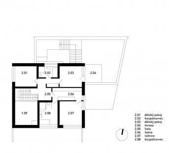 Rodinný dům Chýnice - 2NP