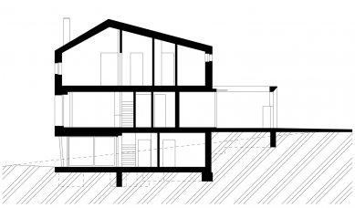 Rodinný dům Chýnice - Řez