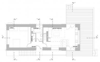 Přestavba bývalého obecního úřadu na rekreační bydlení - Přízemí - foto: caraa