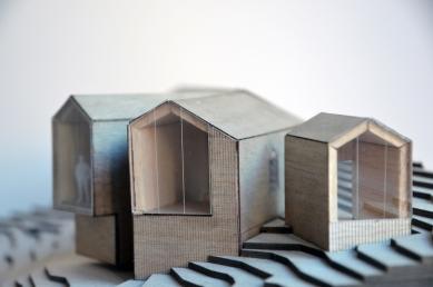 Horská chata s rozděleným výhledem - Model - foto: Reiulf Ramstad Arkitekter