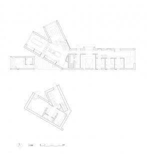 Horská chata s rozděleným výhledem - Půdorysy - foto: Reiulf Ramstad Arkitekter