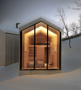 Horská chata s rozděleným výhledem - foto: © Søren Harder Nielsen