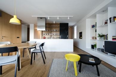 Byt Dlhé Diely - Obývací pokoj - foto: Tomáš Krištek