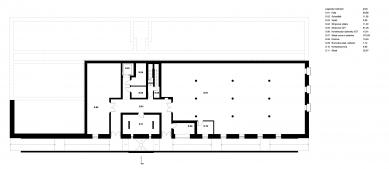 Novostavba výroben v areálu kláštera Nový Dvůr - 1PP