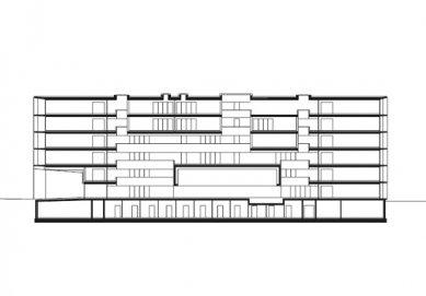 Laboratorní budova ETH e-Science Lab - Řez - foto: Baumschlager Eberle
