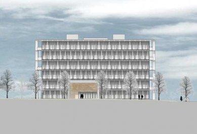 Laboratorní budova ETH e-Science Lab - Čelní pohled - foto: Baumschlager Eberle