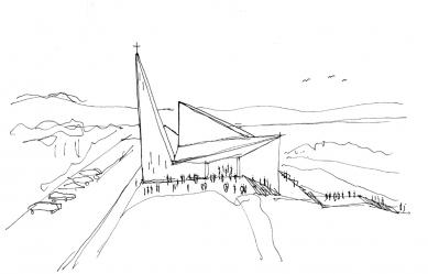 Kostel v Knarviku - Skica