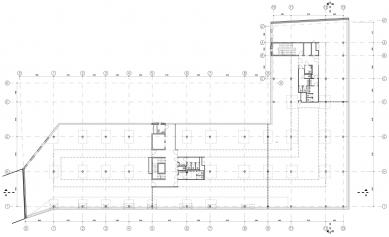 BB Centrum – budova G - Půdorys 2NP a 3NP