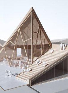 Návštěvnické centrum Stěny Trollů - Model - foto: Reiulf Ramstad Arkitekter