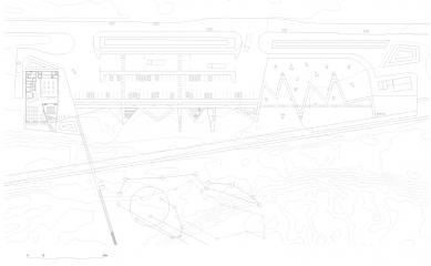 Návštěvnické centrum Stěny Trollů - Situace / Site plan - foto: Reiulf Ramstad Arkitekter