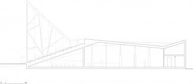 Návštěvnické centrum Stěny Trollů - Řez A-A / Section A-A - foto: Reiulf Ramstad Arkitekter