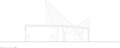 Návštěvnické centrum Stěny Trollů - Řez B-B / Section B-B - foto: Reiulf Ramstad Arkitekter