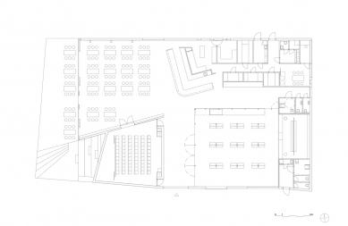 Návštěvnické centrum Stěny Trollů - Půdorys / Floor plan - foto: Reiulf Ramstad Arkitekter
