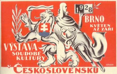 Brněnské výstaviště - Plakát pro výstavu soudobé kultury 1928 - Plakát pro výstavu soudobé kultury 1928
