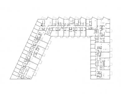 Rezidence Sacre Coeur II - Půdorys typického podlaží