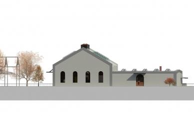 Rekonstrukce objektu kotelny v Železném Brodě - Jižní pohled - foto: studio ARTIKL