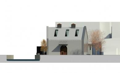 Rekonstrukce objektu kotelny v Železném Brodě - Západní pohled - foto: studio ARTIKL